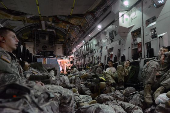 Soldiers-Sleeping-on-Aircraft