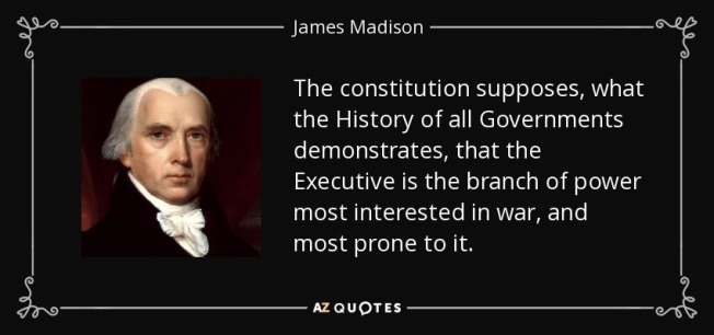 James Madison President and War