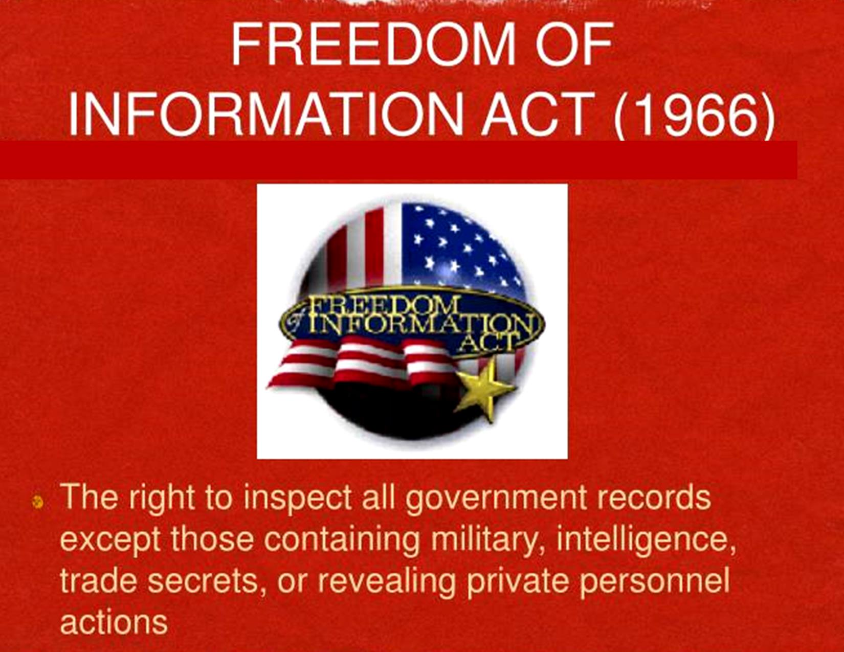 Freedom of Information Act Slideserve dot com