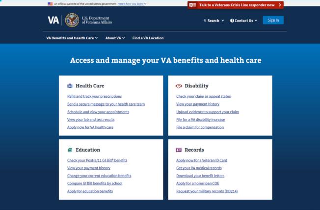 New VA Web Site